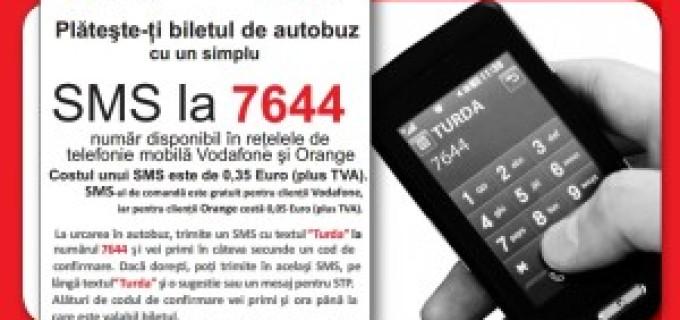 Modificarea prețului la biletul STP comandat prin SMS de către clienții Orange