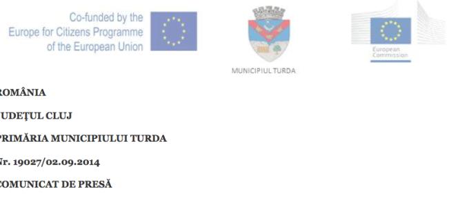 """Comunicat: finalul proiectului –  """" Europa pentru cetateni """" 2014"""