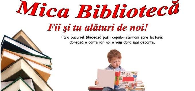 """Asociaţia Împreună pentru Voi te invită să participi la Campania Umanitară intitulată sugestiv """"Mica Bibliotecă"""""""