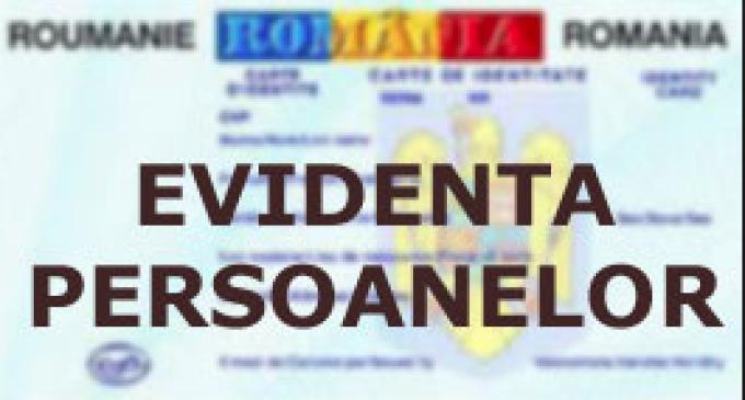 S-au aprobat taxele speciale aferente anului 2016 pentru Serviciul de Evidenta Persoanelor