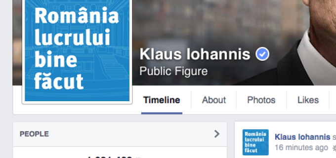Johannis primul politician European care a strans peste 1 milion de like-uri pe Facebook