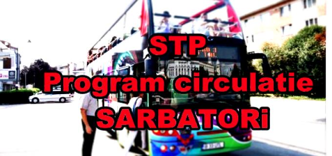 Vezi programul de circulatie STP pentru perioada sarbatorilor: