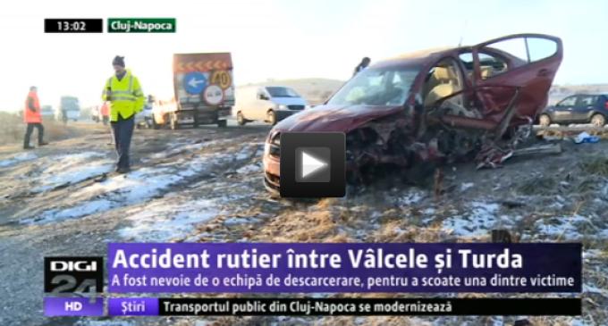 Update VIDEO: Accident rutier între Vâlcele și Turda