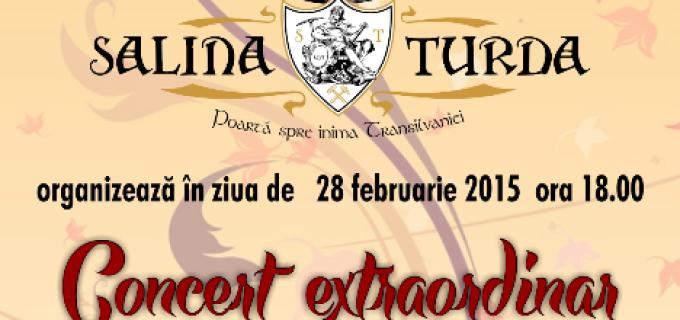 Primăria Turda recomandă concertul de mâine, 28 Februarie 2015, organizat la Salina Turda