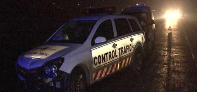 Accident cu masina de la Control Trafic, la intrare in Turda