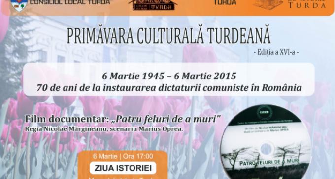 În cadrul Primăverii Culturale Turdene, la Muzeul de Istorie Turda va fi proiectat filmul documentar: Patru feluri de a muri