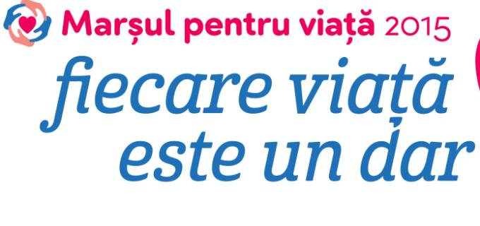 """Marș pentru viață la Turda – """"Fiecare viață este un dar!""""  21 Martie 2015"""