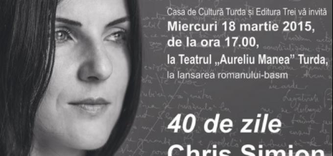 ZIUA CĂRȚII – Chris Simion se întâlneşte cu cititorii săi din Turda, la Teatrul Aureliu Manea