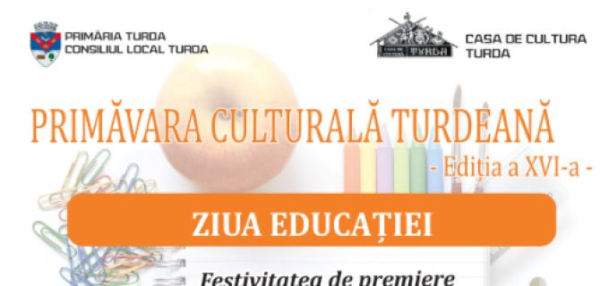 Primăvara Culturală Turdeană continua cu Ziua Educației: