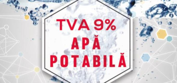 Cristian Matei solicită reducerea cotei de TVA la 9% pentru apa potabilă