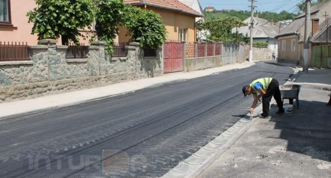 FOTO: Progresul lucrărilor de modernizare a străzii Alexandru Fărcășan
