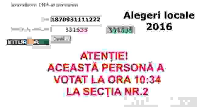 La alegerile locale din 2016 va fi introdus un sistem electronic de verificare a votantilor