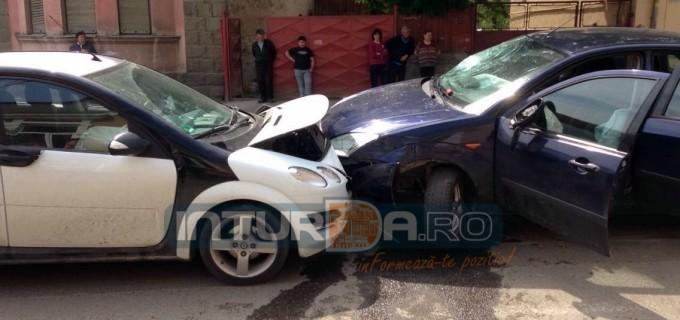 Foto: Accident grav pe strada Avram Iancu