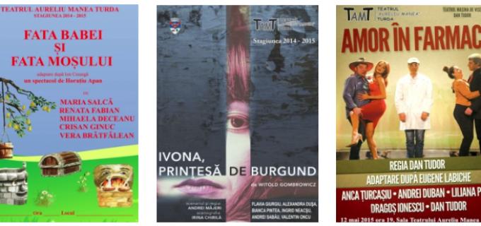 Program spectacole de teatru în perioada 7 – 15 mai 2015