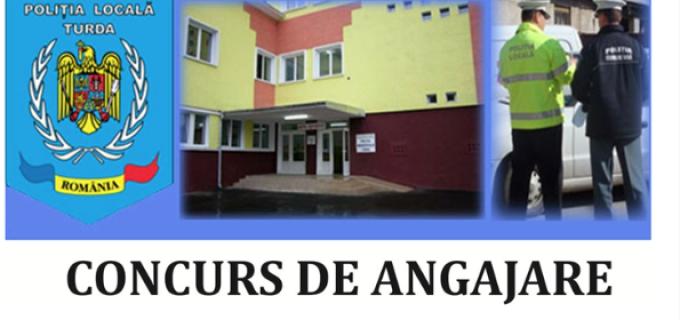 Se fac angajări la Poliția Locală Turda. 10 posturi sunt scoase la concurs: