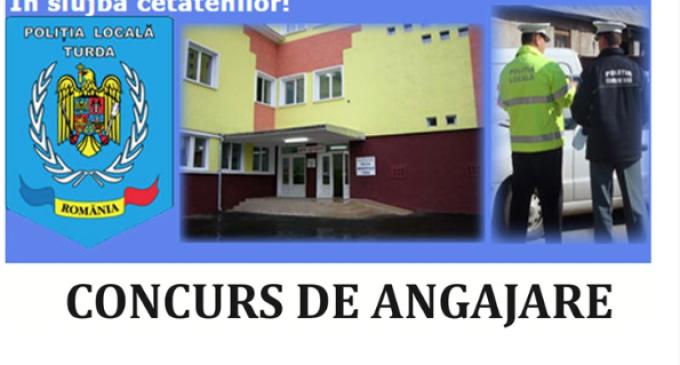 Poliția Locală Turda organizează concurs pentru ocupare funcțiilor publice de conducere vacante