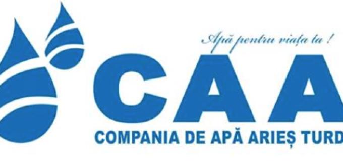 Compania de Apă ARIEŞ anunţă întreruperea furnizării apei potabile în municipiul Câmpia Turzii