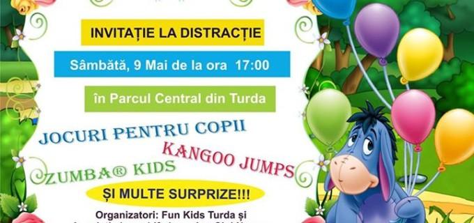 Fun Kids invită copiii turdenilor la distracție, sâmbătă, 9 mai 2015