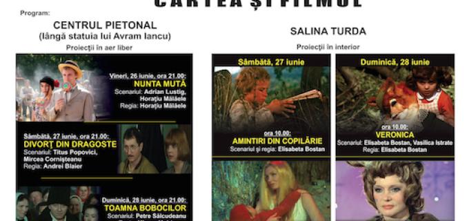 """Ploaia mută """"Caravana Filmului Românesc"""" în incinta Teatrului Aureliu Manea Turda"""