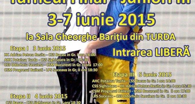 Primăria Turda ne invită să susținem juniorii III ai Potaissei Turda în turneul final pe care îl joacă la Turda