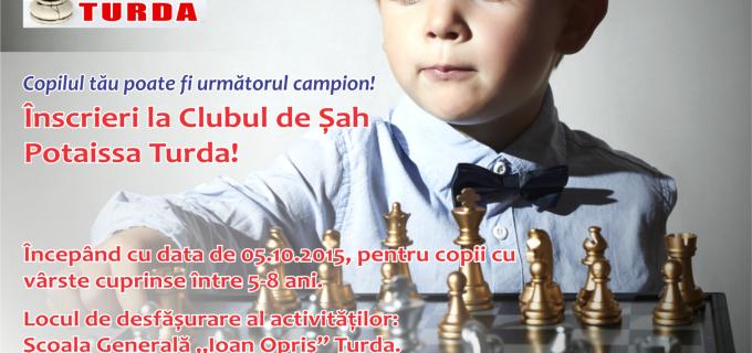 Clubul de Șah Potaissa Turda caută următorii campioni din Turda!