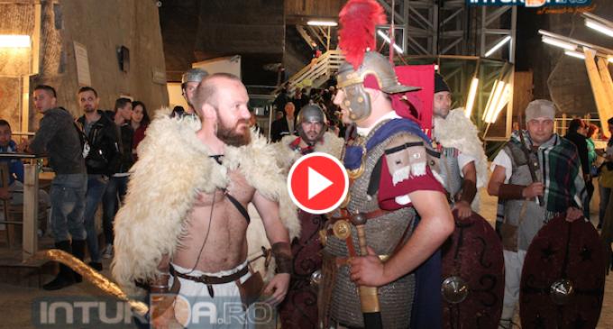 VIDEO: Dacii si romanii s-au luptat la Salina Turda
