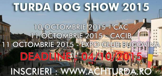 "Vezi aici programul expozitiilor ""Turda Dog Show 2015"":"