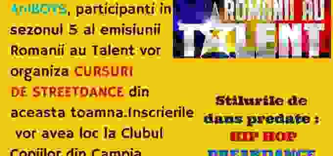 """Cursuri de Dans în Câmpia-Turzii, organizate de """"Frații Anisia"""", foști concurenți la Românii au Talent"""