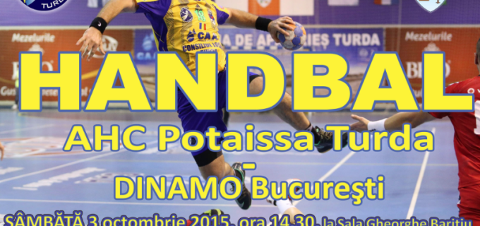 Potaissa Turda va întâlni echipa Dinamo Bucureşti sambata, 3 octombrie 2015