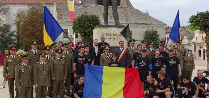 Tudor Stefanie: Municipiul Turda a fost onorat de prezenta stafetei militarilor veterani Invictus Romania