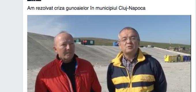 La Cluj-Napoca s-a rezolvat problema depozitarii gunoaielor prin infiintarea unei platforme temporare de stocare