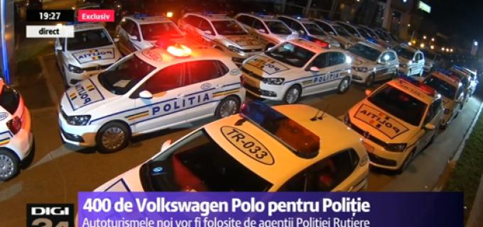Parcul auto al Poliţiei Române se reînoiește cu 400 de mașini Volkswagen Polo