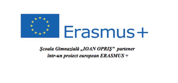 """Şcoala Gimnazială """"IOAN OPRIŞ"""" Turda, partener  ȋntr-un proiect european ERASMUS +"""