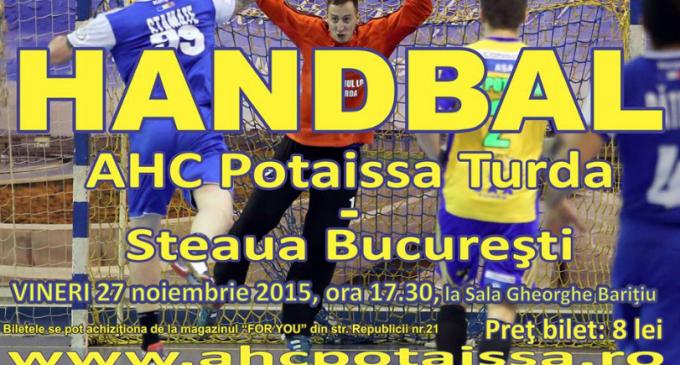 Potaissa Turda vs. Steaua București, vineri la Sala Gheorghe Barițiu