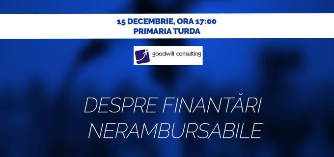 Skill Up Conferences revine la Turda cu o Conferinta pe tema Finantarilor Nerambursabile