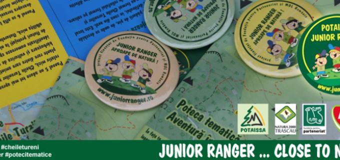 Vedetele anului 2015 pentru Junior Ranger, sunt 2 poteci tematice noi: Detectivii Naturii (Cheile Turzii) şi Aventura în Epoca de Piatră
