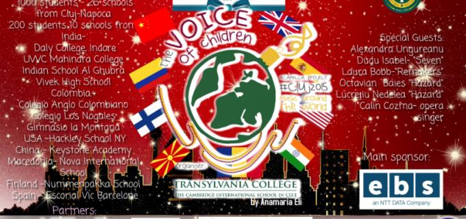 Cluj: Peste 1.200 de copii din România și alte opt țări vor cânta în sincron live un colind pe cinci voci
