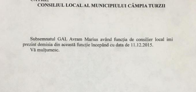 Avram GAL: Astazi mi-am dat demisia din Consiliul Local, dar o sa raman implicat in proiectele pe care le-am inceput la Campia Turzii
