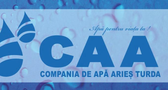 CAA anunță întreruperea furnizării apei potabile pe 4 strazi din Câmpia Turzii