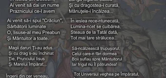 """Poetul turdean, Călin Pop, urează sărbători fericite tuturor și ne oferă în dar poezia: """"Nașterea lui Hristos"""""""