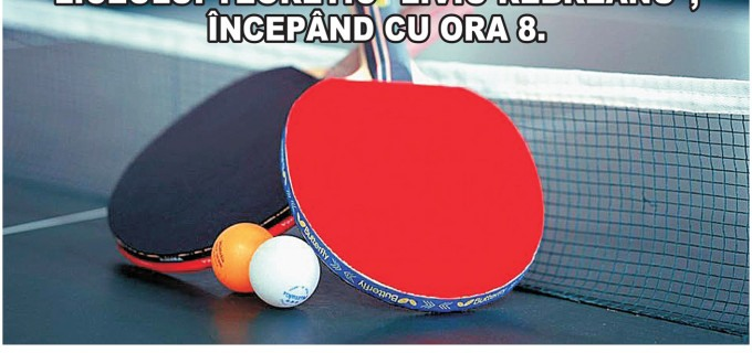 """Asociația Olimpia Turda organizează prima ediție a """"Cupei Arieșul"""" la tenis de masă!"""