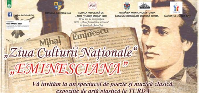 """""""EMINESCIANA"""" – spectacol de poezie şi muzică clasică la Primăria Municipiului Turda"""