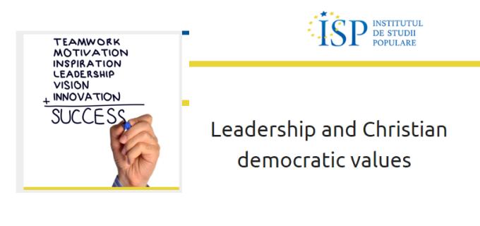 "Seminar despre ""Leadership și valori democratice creștine"" la Turda"