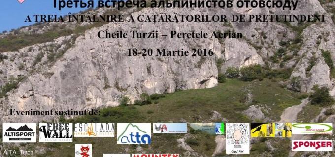 A treia intalnire a cataratorilor de pretutindeni are loc in Cheile Turzii in luna Martie