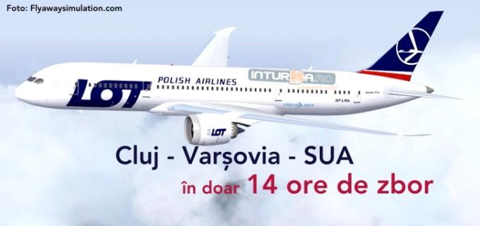 Aeroport CLUJ – Compania aeriană LOT deschide calea destinațiilor rapide spre SUA!