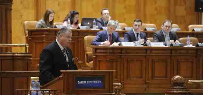 Mircea Irimie a vorbit in Parlament, la Ora Premierului, despre alegerile locale din 2016
