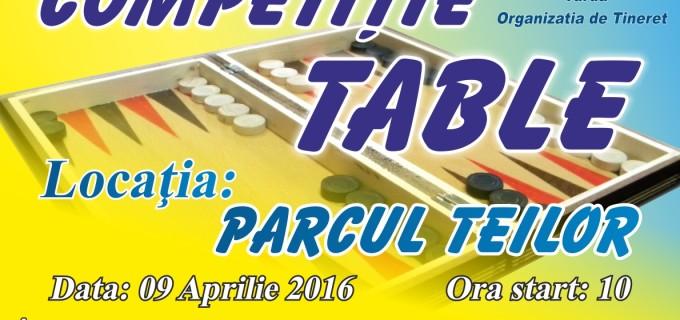 Competiție de table în Parcul Teilor, organizată de TNL Turda