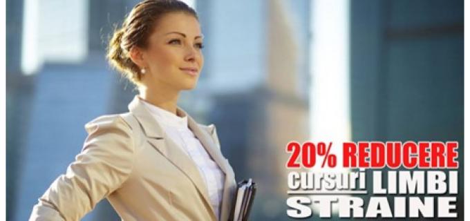 20% reducere la cursuri de limbi straine