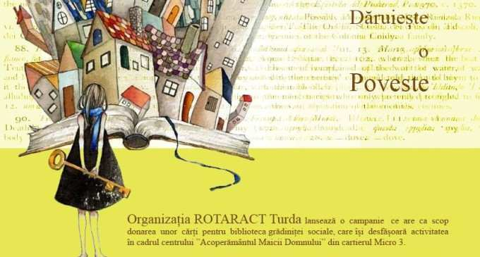 Initiativă lăudabilă a membrilor RotarAct Turda: bibliotecă pentru gradinita socială!