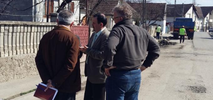 Stadiul lucrărilor de reabilitare și modernizare străzi în Municipiul Turda